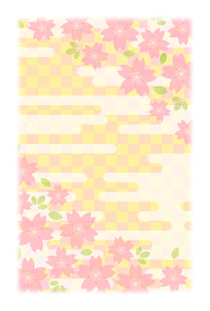 Background material for New Years card (postcard size)  イラスト・ベクター素材