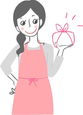 Woman with bento.