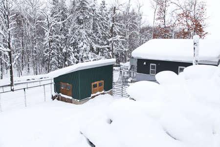 Snow scenery in Asahikawa, Hokkaido