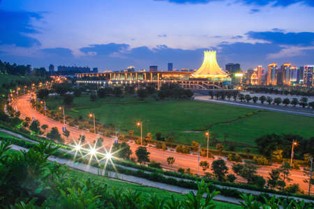 Night view of Guangxi Nanning Convention and Exhibition Center