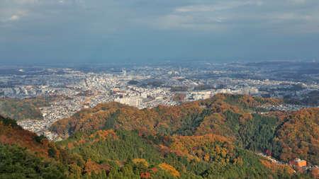 Tokyo Takao San Hongye quarter overlooking the scenery Фото со стока