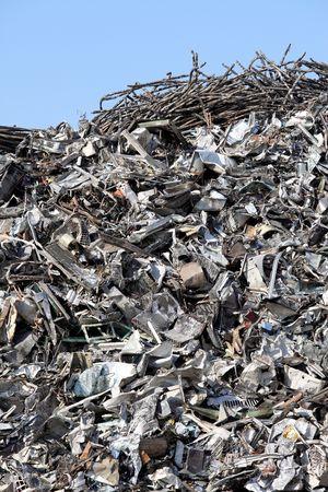 salvage yard: Scrap metal