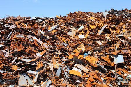 salvage yard: Scrap yard Stock Photo