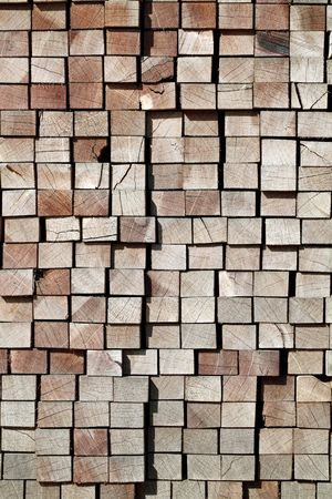 wood railroads: Stack of lumber