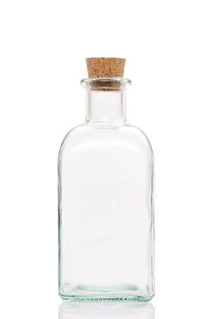 prescription bottle: Glass bottle Stock Photo
