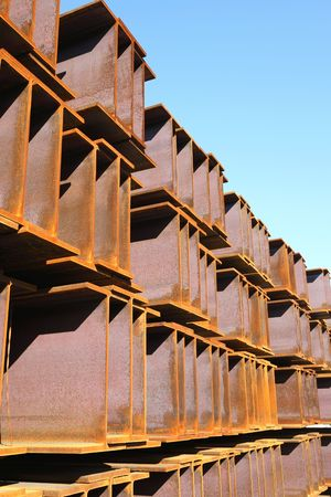 girder: Iron girder Stock Photo