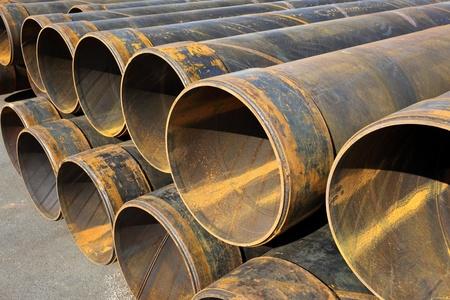 deconstruct: Steel tubes Stock Photo