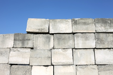strong foundation: Concrete brick Stock Photo
