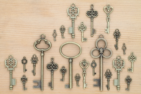 Old key on wooden background Stock Photo - 9134499