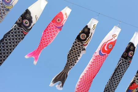 Japanese carp kites, decoration Stock Photo - 9228371