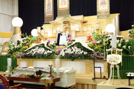 Funeral of Japanese style photo