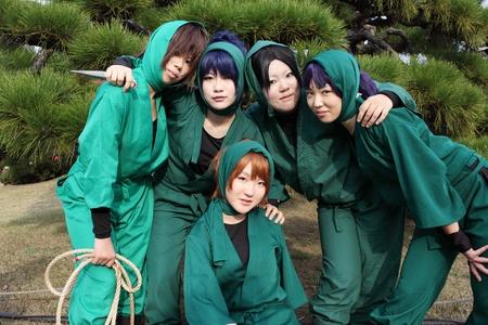 KAGAWA, JAPAN - NOVEMBER 27: Young Japanese anime character cosplay pose in Anime Event in Kagawa 2011 on November 27, 2011 at Kagawa Riturin Park, Kagawa, Japan.