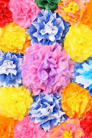 Paper flowers background photo