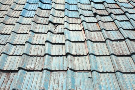 Old roof clay tiles  photo