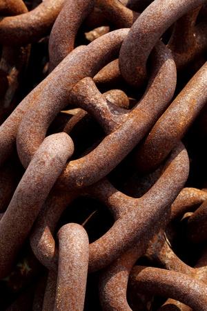 Rusty industrial iron chain Stock Photo - 12684488