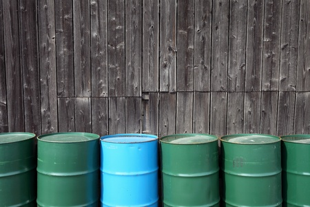 Oil drums on warehouse Stock Photo - 12684709