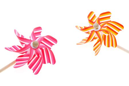Colorful toy pinwheel on white background Stock Photo - 13043625