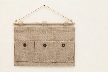 Fabric pocket Standard-Bild