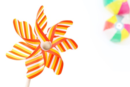Colorful toy pinwheel on white background Stock Photo - 13354953