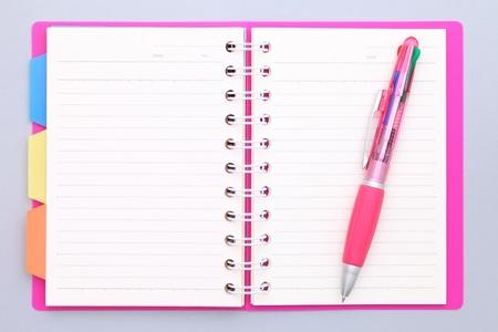 空白のノートブック 写真素材