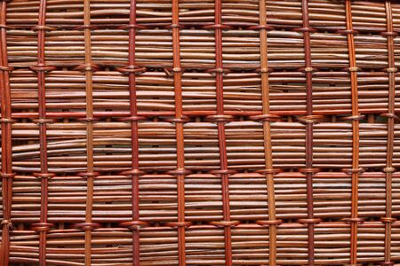 Brown rattan texture background photo