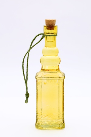 stopper: Bottle of oil isolated on white background