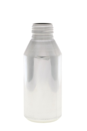 aluminum bottle isolared n white background  photo