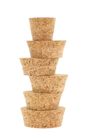 cork stopper isolated on white background photo