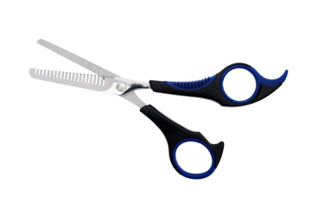 barber scissors isolated on white background photo