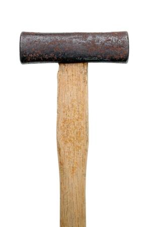 Old hammer isolated on white background  photo