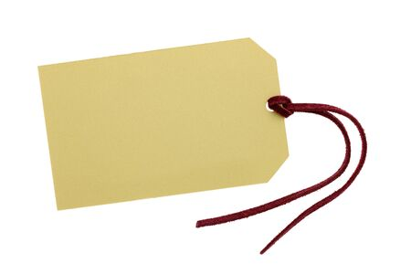 Blank tag with leather string photo