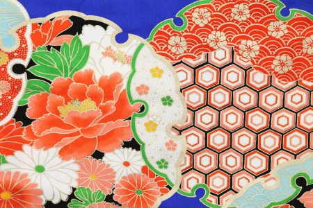 kimono fabric, texture background Stock Photo