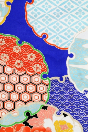 kimono fabric, texture background Banco de Imagens