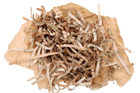 packing material: Shredded brown paper packing material