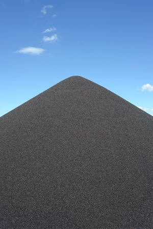 gravel pit: Black gravel mound mountain for concrete making