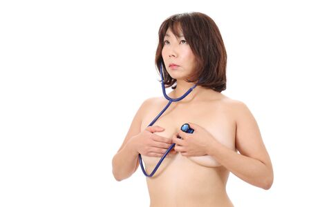 Asian woman with stethoscope  Stock Photo - 16084313