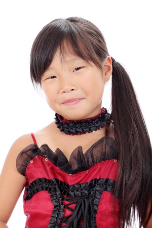 Portrait of a little asian girl in the studio Stock Photo - 16334285