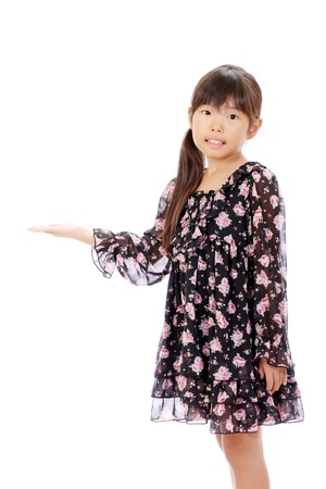 Little asian girl hand showing blank sign   Stock Photo - 16334289