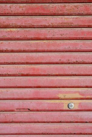 metal roller shutter closeup  photo