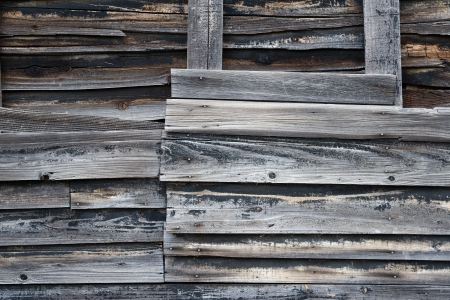 Close up of old wooden weathered wall  photo