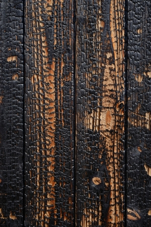 Close up of burnt wooden planks background Stock Photo - 17001111