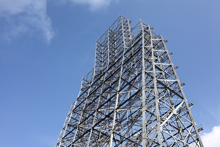 Steel construction with blue sky and clouds Stock Photo - 17747160