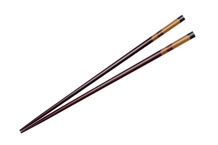 hashi: Pair of wooden chopsticks  Stock Photo