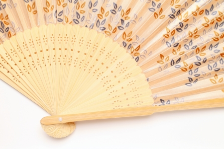 Chinese fan on a white background  photo