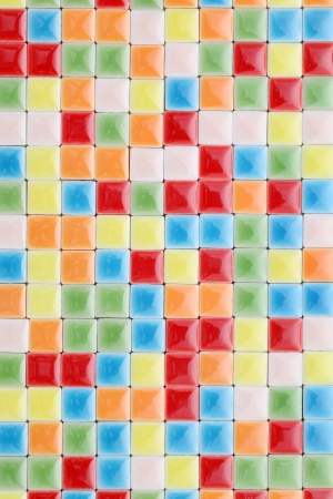 Close up of colorful tiles, texture  background photo