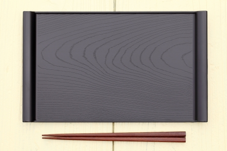 plate and chopsticks with japanese style on table
