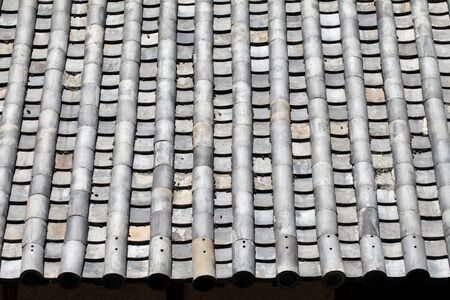 Close up of asian old roof clay tiles Stock Photo - 20926426