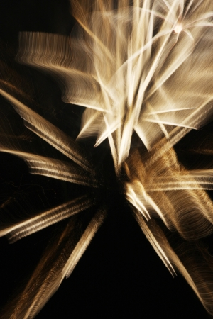 Fireworks with slow shutter speed  photo