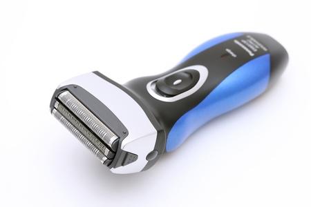 electric shaver: Rasoio elettrico su sfondo bianco Archivio Fotografico