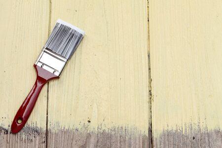 木製の背景をペイント ブラシ 写真素材